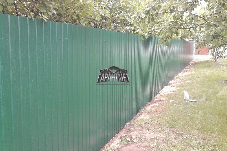 забор из профнастила стандарт